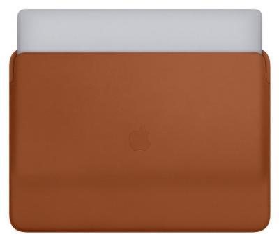 """APPLE Leather Sleeve 16"""" Saddle Brown"""