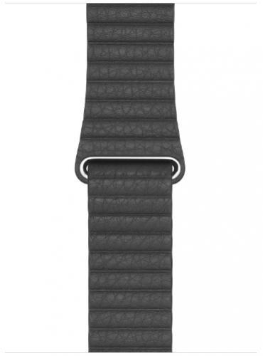 APPLE Remienok 44mm Black Leather Loop - Medium