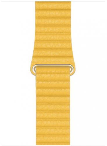 APPLE Remienok 44mm Lemon Leather Loop - Medium