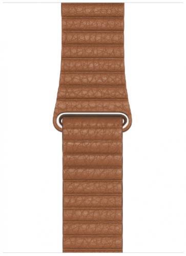 APPLE Remienok 44mm Saddle Brown Leather Loop - Medium