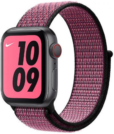 APPLE Remienok 44mm Pink Blast/True Berry Nike Sport Loop