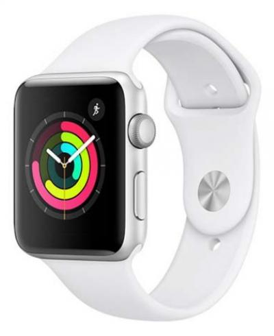 APPLE Watch 3 42mm Silver Aluminium with White Sport Band