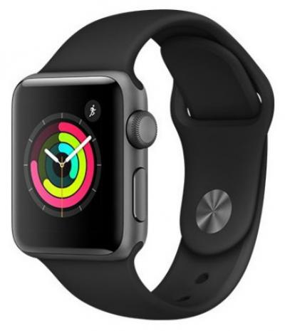 APPLE Watch 3 38mm Space Grey Aluminium with Black Sport Band