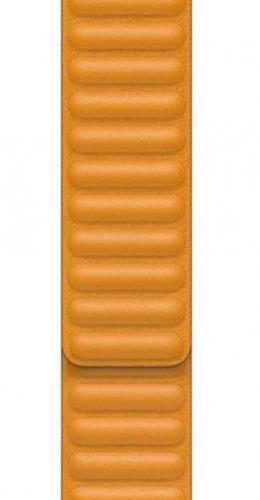 APPLE Remienok 40mm California Poppy Leather Link - Small