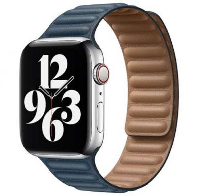 APPLE Remienok 40mm Baltic Blue Leather Link - Small