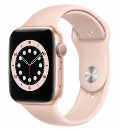 APPLE Watch 6 44mm Gold Aluminium with Pink Sand Sport Band