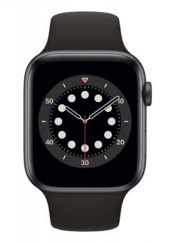 APPLE Watch 6 44mm Space Gray Aluminium with Black Sport Band