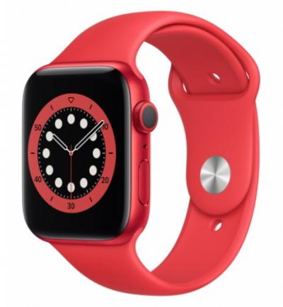 APPLE Watch 6 44mm Red Aluminium with Red Sport Band