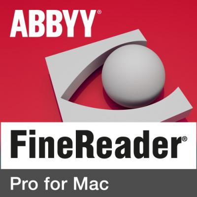ABBYY FineReader Pro for Mac Single User License (ESD) Perpetual