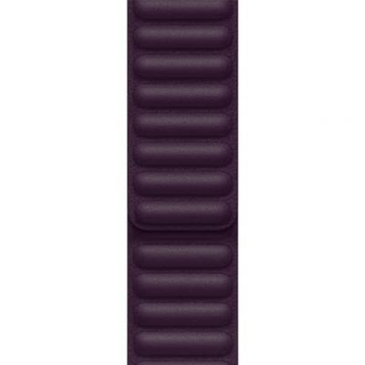 APPLE Remienok 41mm Dark Cherry Leather Link - M/L