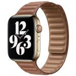 APPLE Remienok 40mm Saddle Brown Leather Link - Small