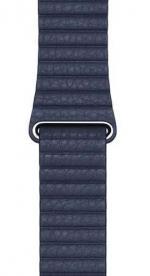 APPLE Remienok 44mm Diver Blue Leather Loop - Medium