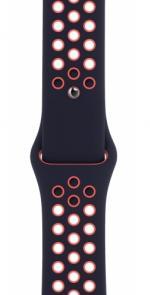 APPLE Remienok 44mm Blue Black/Bright Mango Nike Sport Band