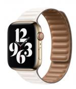 APPLE Remienok 44mm Chalk Leather Link - Small